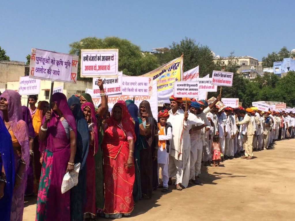 Banjaras protesting in Rajasmund. Courtesy: Cheryl D'souza