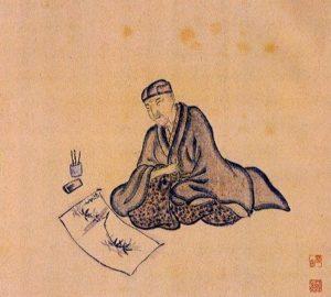 Basho by Sugiyama Sanpû. Credit: Wikimedia Commons