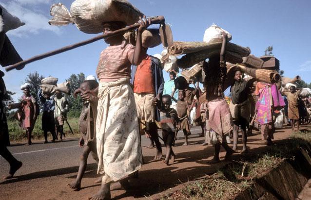 Refugees in Burundi fleeing civil conflict. Credit: FAO/Linton/IPS