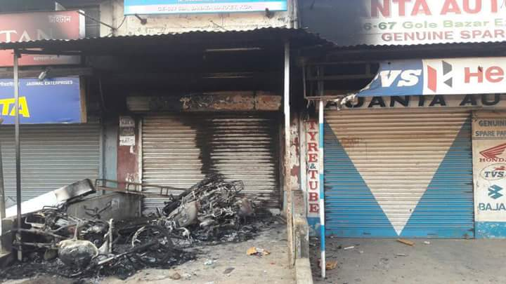 The government declared curfew in Kharagpur as a result of the riots. Credit: Gautam Kumar Pal/Twitter