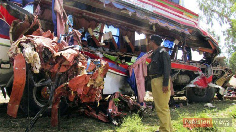 Bus Collision Kills At Least 30 in Pakistan