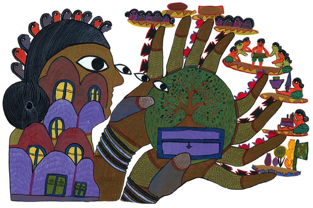 By Durga Bai Vyam (Gond, Madhya Pradesh). Courtesy: Tara Books