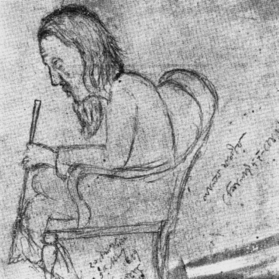 The only sketch of Lalon Fokir made during his lifetime, by Jyotirindranath Tagore in 1889. Credit: Wikimedia Commons