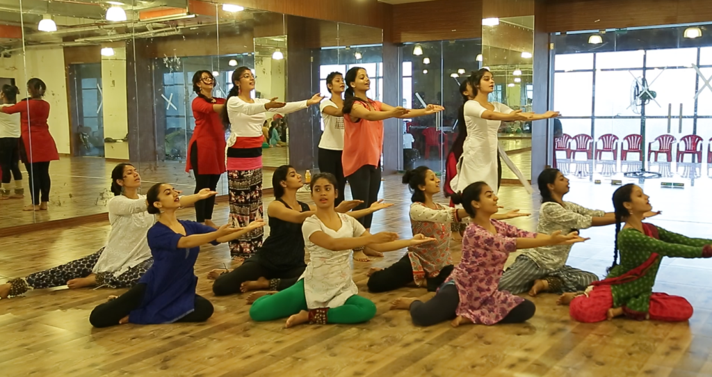 Dancers rehearsing for the musical version of Mughal-e-Azam