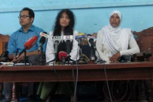 Irom Sharmila announced her new political party Peoples Resurgence Justice Alliance (PRJA) at Manipur Press Club today. Credit: Special Arrangement