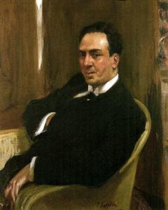 A painting of Antonio Machado by Joaquin Sorolla. Credit: Wikimedia Commons