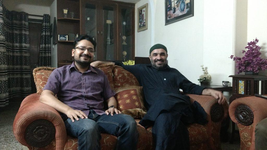 Kush and Faisal at their Gaffar Manzil home. Credit: Sangeeta Barooah Pisharoty