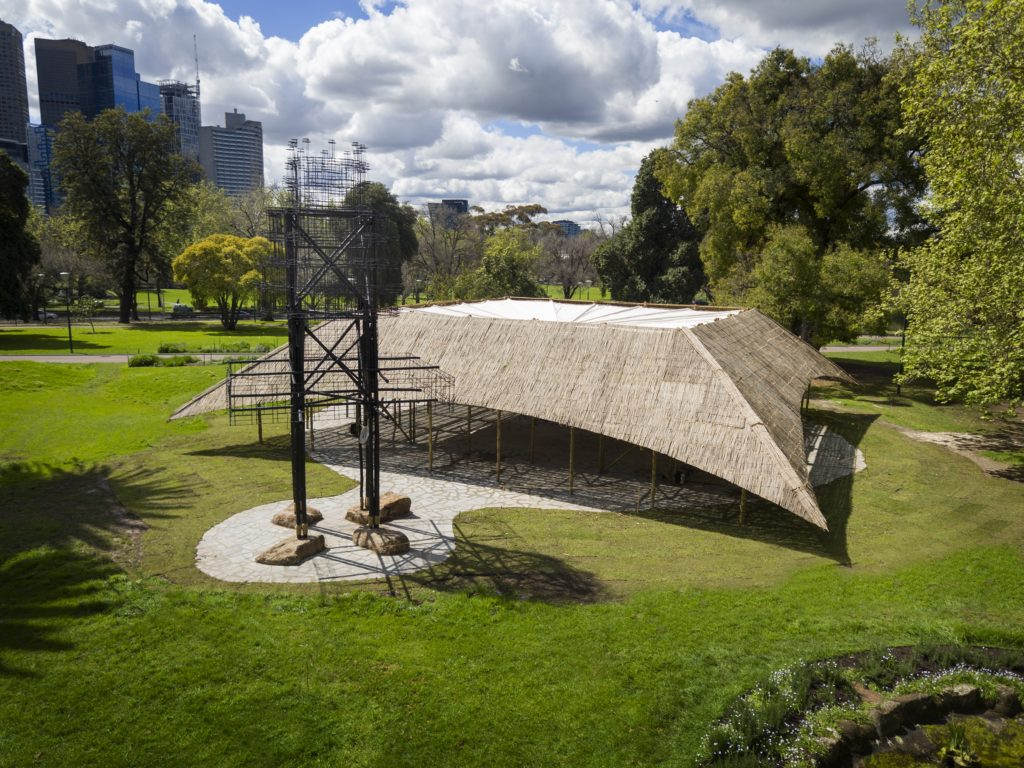 MPavilion designed by Indian architect Bijoy Jain. Credit: John Gollings