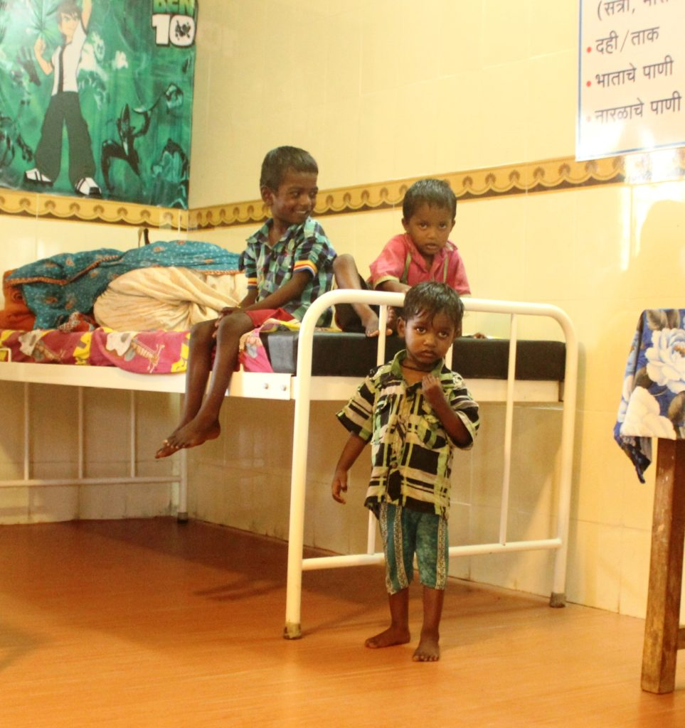 Malnourished childrem in Mokhada Government Hospital.