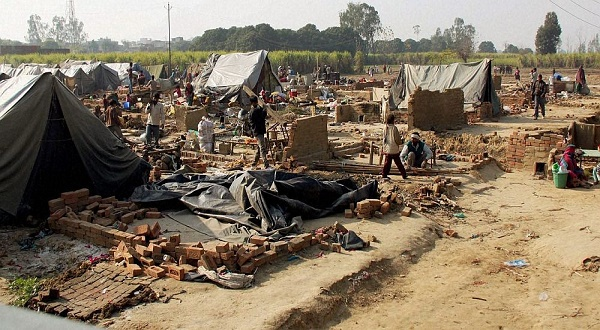 A camp for those displaced by the Muzaffarnagar riots. Credit: PTI/Files
