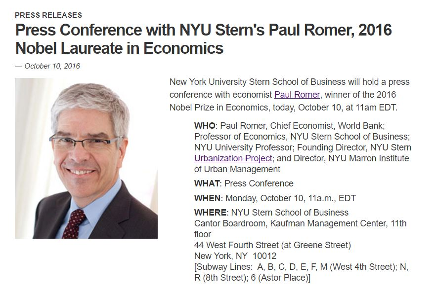 A screenshot of NYU's press conference invitation, which was quickly retracted. Credit: The Wire