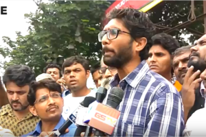 Jignesh Mewani speaking to the media. Credit: Youtube screenshot