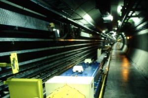 A view of the LEP in the tunnel now occupied by the LHC. Credit: CERN