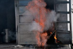 File photo of a fire in Sivasaki in 2012. Credit: PTI