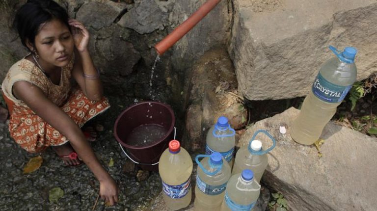 India has the world's highest number of people without access to clean water. Credit: PTI/Files