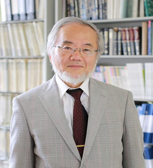 Yoshinori Ohsumi. Credit: 大臣官房人事課/Wikimedia Commons, CC BY 4.0