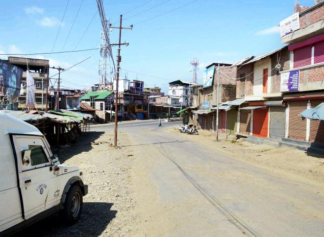 Scene from a recent bandh in Imphal. Credit: PTI