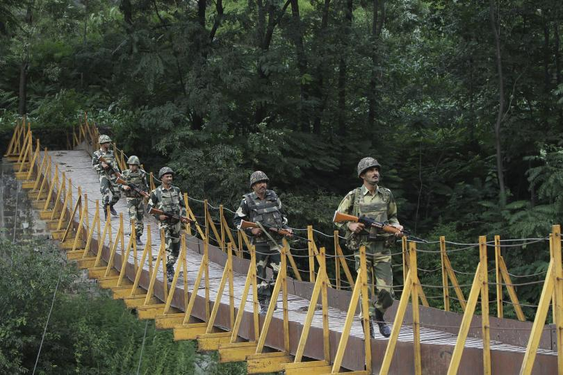 File photo of an Indian patrol near the Line of Control in Kashmir. Credit: Reuters