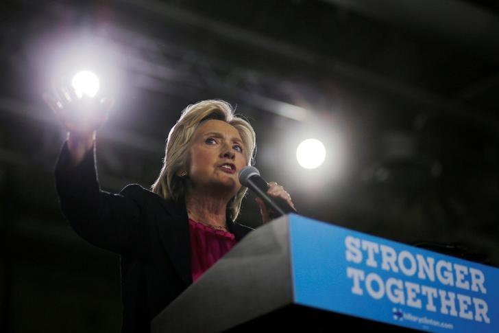 US Democratic presidential nominee Hillary Clinton speaks at a campaign Voter Registration Rally at the University of South Florida in Tampa, Florida, United States September 6, 2016. Credit: Reuters
