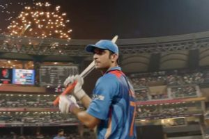 Sushant Singh Rajput in a still from the film M S Dhoni The Untold Story