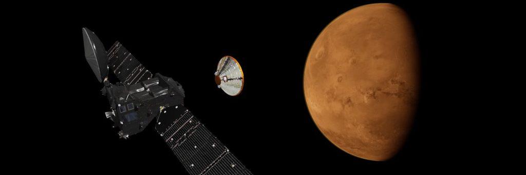 Live: European ExoMars Probe Prepares to Enter Orbit Around Mars, Launches Lander To Surface