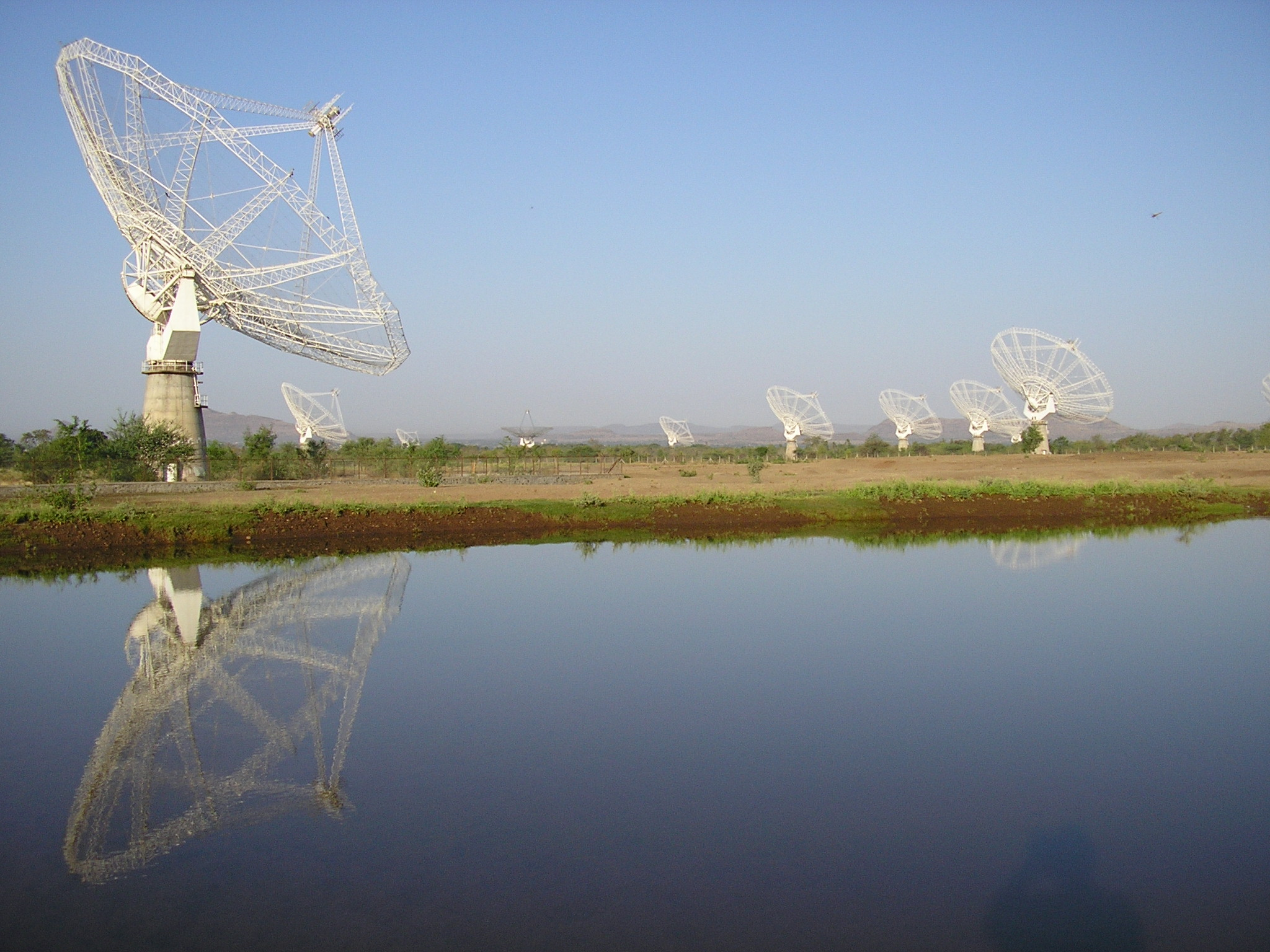 The GMRT (Giant Metre-wave Radio Telescope), NCRA. Credit: National Centre for Radio Astrophysics/Tata Institute of Fundamental Research