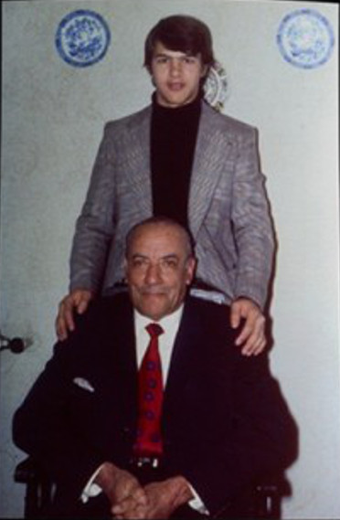 Luis Alberto Quijano and son. Credit: Global Voices/Archive photo