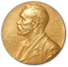 Swedish inventor Alfred Nobel's profile is on the medals awarded to the recipients of the prizes he established. Credit: Erik Lindberg/ The Conversation