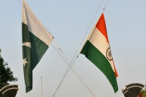 India and Pakistan's flags. Credit: Reuters