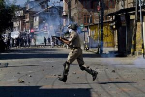 File photo of violence in Kashmir. Credit: PTI