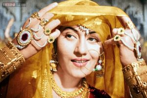 Madhubala in a still from the film Mughal-e-Azam