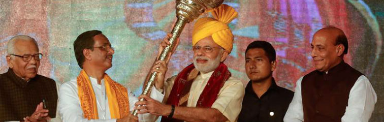 Modi's Dussehra Speech Indicates a Strategic Shift in BJP's Electoral Campaign
