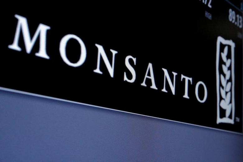 Monsanto is displayed on a screen where the stock is traded on the floor of the New York Stock Exchange. Credit: REUTERS/Brendan McDermid