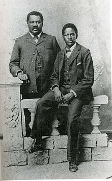 John Tengo Jabavu and his son Davidson Don Tengo around 1903. Credit: Wikimedia