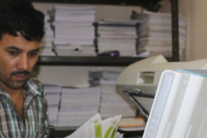 Inside Rameshwari Photocopy Service. Credit: Radhika Oberoi