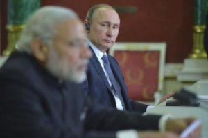 Where's the focus? File photo of Narendra Modi and Vladimir Putin. Credit: Reuters