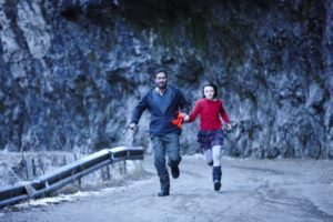 Ajay Devgn and Abigail Eames in a still from the film Shivaay