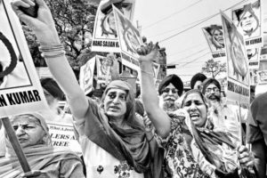 File photo of Sikh women demanding justice for victims of violence against Sikhs in 1984. Credit: PTI