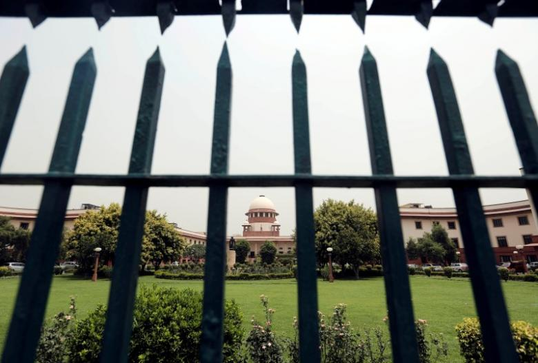Supreme Court is pictured through a gate in New Delhi, India May 26, 2016. REUTERS/Anindito Mukherjee