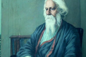 A portrait of Indian poet and musician Rabindranath Tagore. Credit: Cherishsantosh/Wikimedia Commons, CC BY-SA 4.0