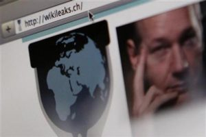 A screen shot of a web browser displaying the WikiLeaks website with a picture of its founder Julian Assange in Bern December 4, 2010.  REUTERS/Pascal Lauener