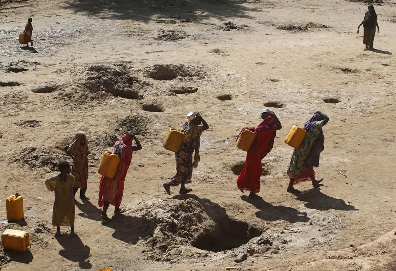 Somalis Forced to Trek 60 km For Water Because of Drought and Conflict