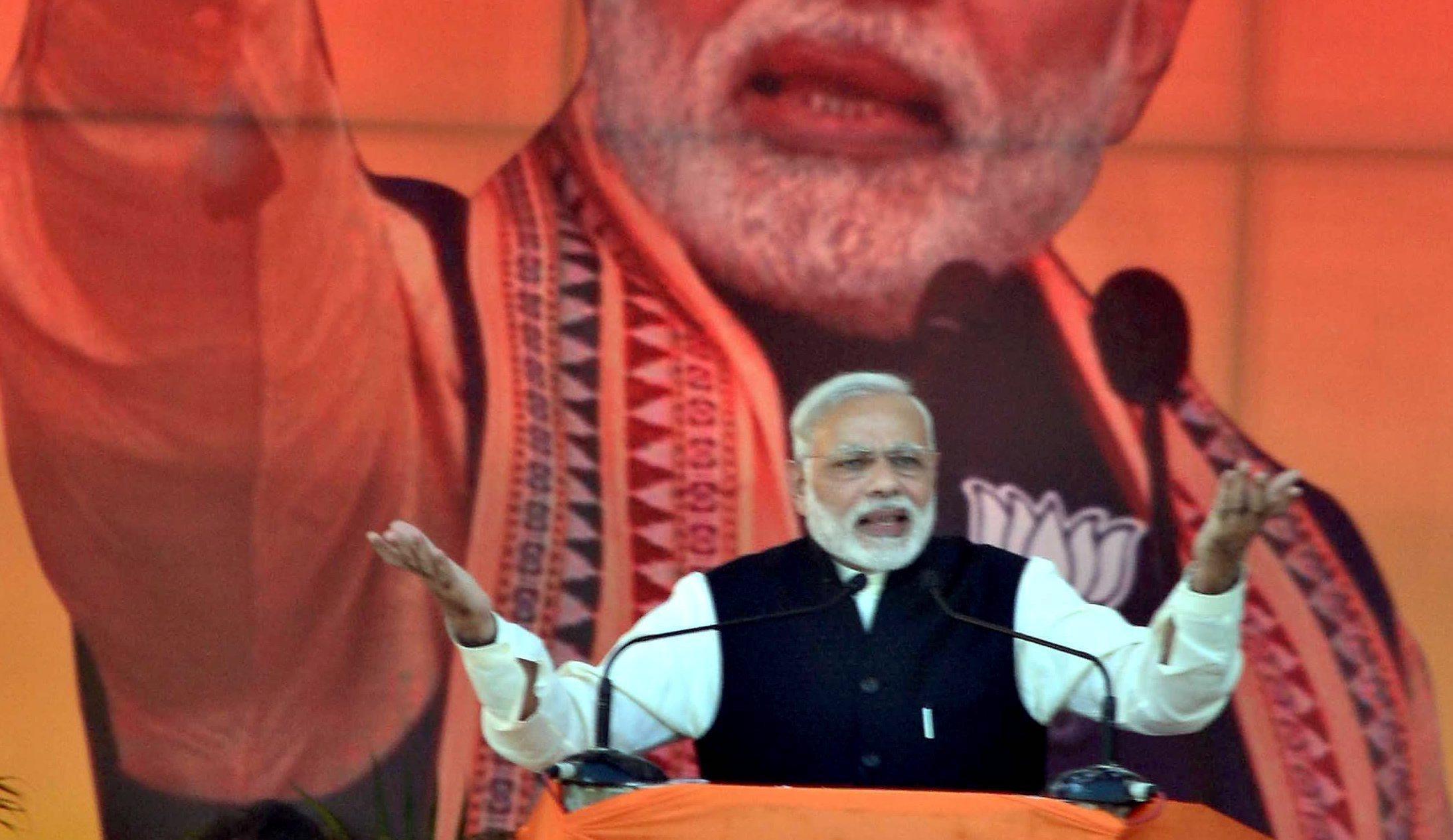 Prime Minister Narendra Modi addressing BJP's Parivartan Rally in Agra on November 20, 2016. Credit: PTI