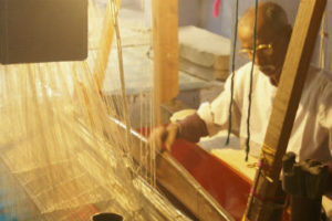 Silk weaving. Credit: Jamis Loveday/Flickr, CC BY 2.0