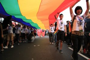 Participants at a previous gay pride parade in Taiwan. Credit: Carrie Kellenberger/FlickrCC BY 2.0