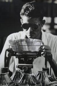 At a typewriter plant. Courtesy: Godrej archives