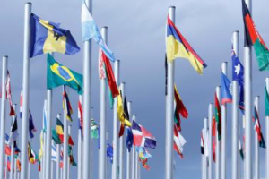 Flags from different countries are displayed at the World Climate Change Conference 2016 (COP22) in Marrakech, Morocco, November 6, 2016. Credit: Reuters/Youssef Boudlal