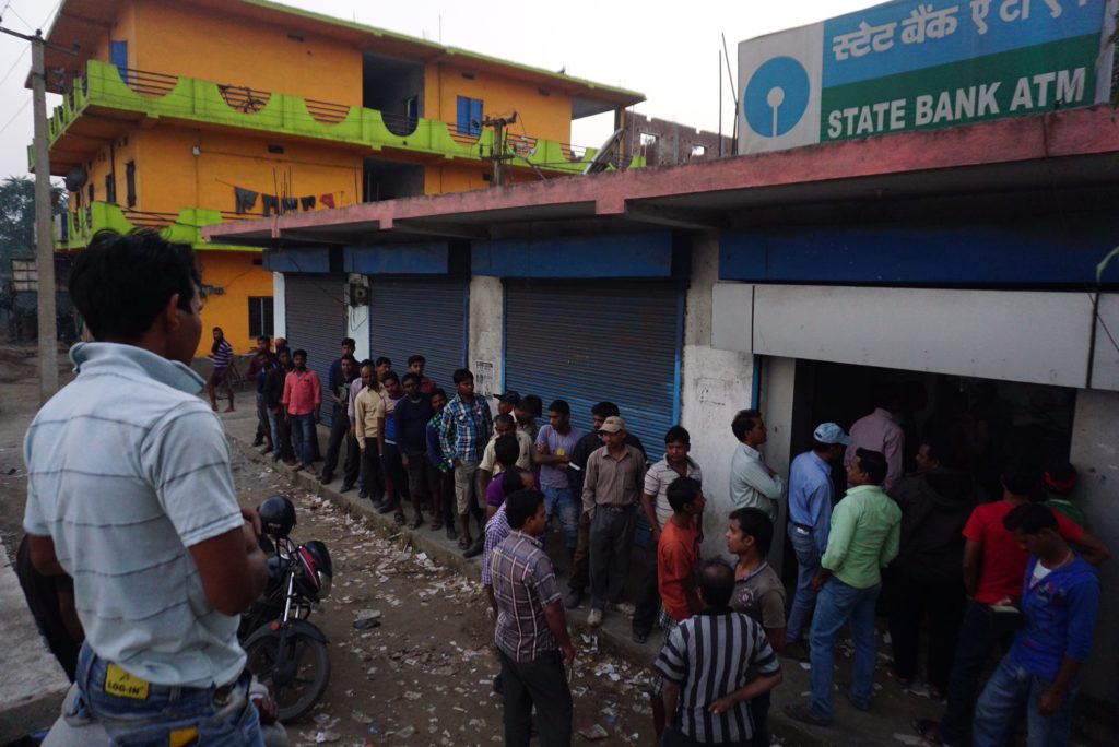 ATM queue at Sundergarh in Orissa. Credit: Shome Basu