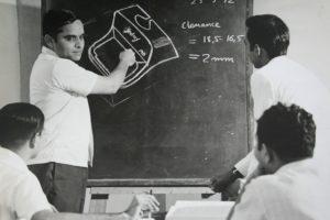 The typewriter design team at Godrej, 1972. Courtesy: Godrej archives