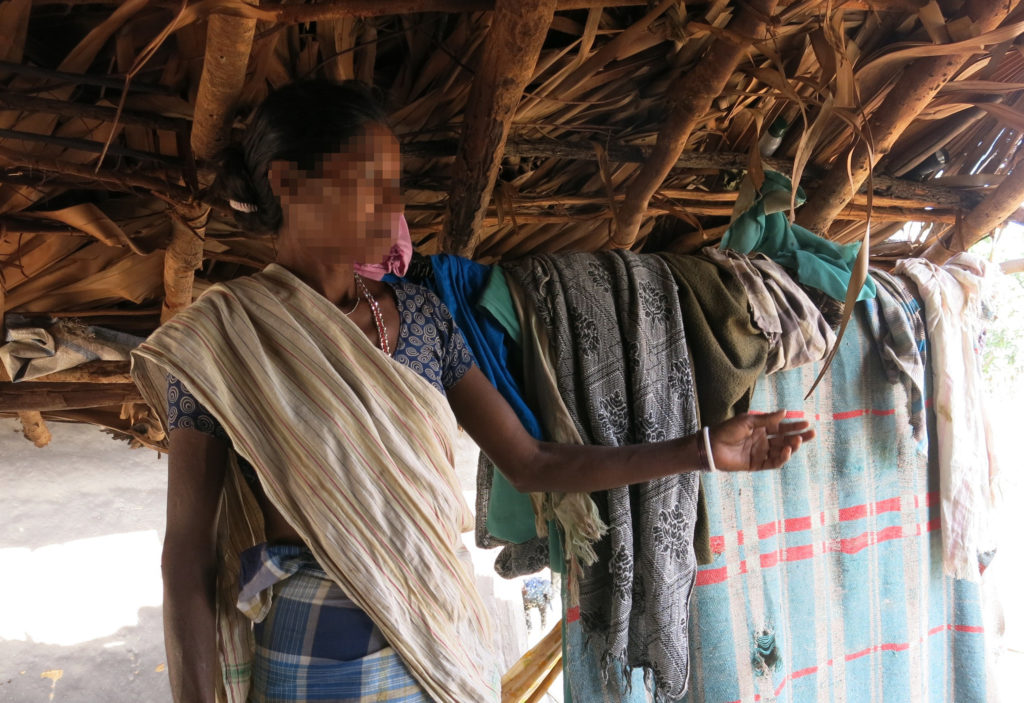 This Bijapur villager and her pregnant daughter-in- law were assaulted with rifles and gangraped by security forces during an anti-Maoist operation last October. When I met her last December, she still bore an injury on her shoulder. Credit: Chitrangada Choudhury
